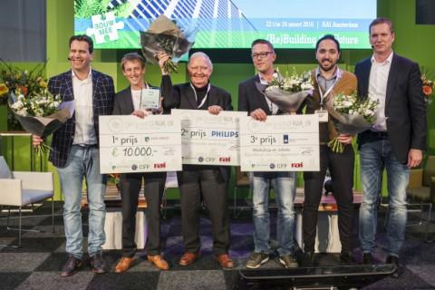 De winnaar en overige finalisten.
